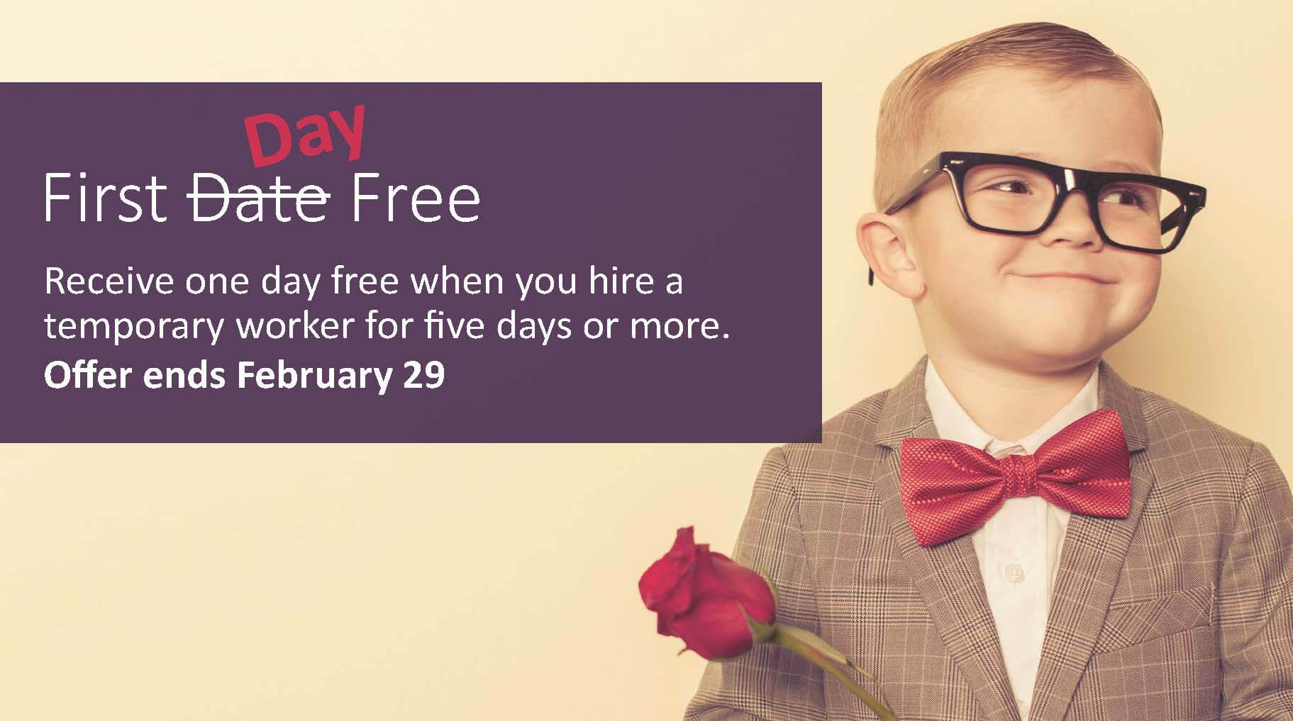 First Day of Work Free | Recruiting & Staffing