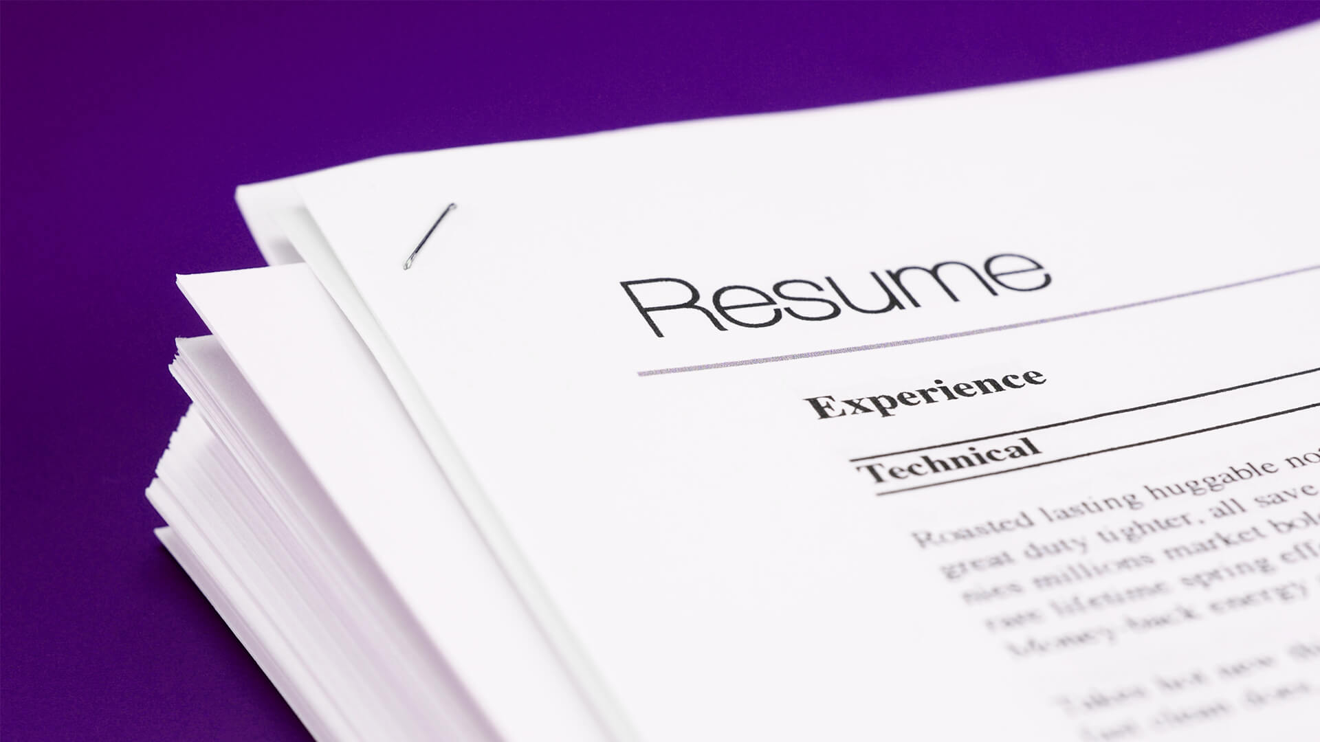 Tailor resume